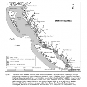 Northern Resident Killer Whales Geographic Range